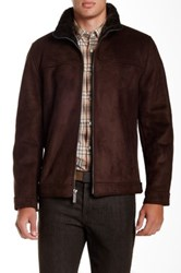 Nautica Faux Fur Lined Jacket Brown