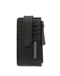Kenneth Cole Reaction Snap Tab Card Holder Black