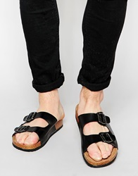 New Look Double Buckle Sandals Black
