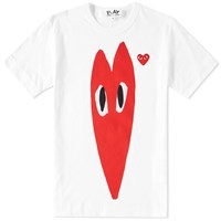 Comme Des Garcons Play Stretch Heart Tee White