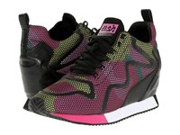 Ash Domino Pink Knit Dot Camo Yellow Knit Black Women's Slip On Shoes Green