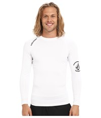 Volcom Solid Long Sleeve Rashguard White Men's Swimwear