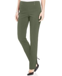 Jm Collection Petite Studded Pull On Pants Only At Macy's Olive Sprig