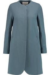 Goat Redgrave Wool Crepe Coat Gray