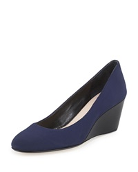 Taryn Rose Kathleen Closed Toe Wedge Navy