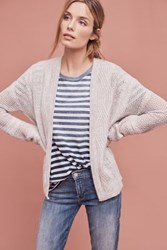 Anthropologie Jolette Cable Knit Cardigan Grey