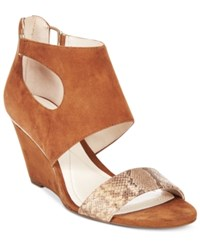 Alfani Women's Giah Wedge Sandals Only At Macy's Women's Shoes Tobacco