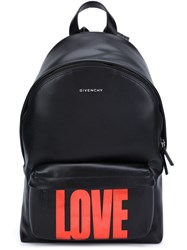 Givenchy Metallic Love Backpack Black