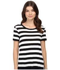 Splendid Delcia Rugby Stripe Tee White Black Women's T Shirt