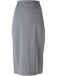 Ermanno Scervino Jersey Pencil Skirt Grey