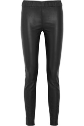 J.Crew Stretch Leather Leggings Black