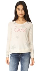 Sundry Loved Star Pullover Cream