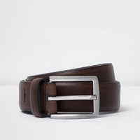 River Island Mens Brown Faux Leather Belt