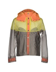 Diadora Heritage Coats And Jackets Full Length Jackets Men Yellow