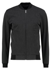 Minimum Tom Bomber Jacket Dark Grey Melange