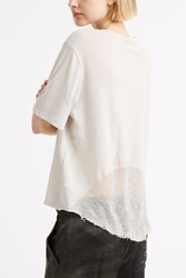 Raquel Allegra Shred Back T Shirt White