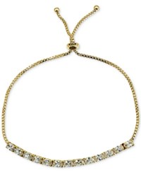 Giani Bernini Cubic Zirconia Oval Adjustable Slider Bracelet In 18K Gold Plated Sterling Silver Only At Macy's Yellow Gold