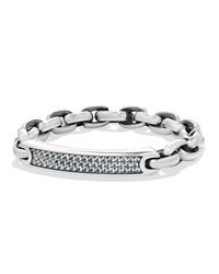David Yurman Men's Streamline Link Sapphire Id Bracelet Silver
