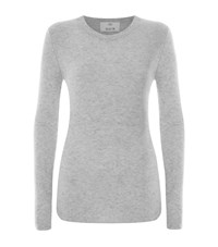 Allude Ribbed Wool Cashmere Sweater Female Light Grey