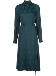 Rosetta Getty Wrap Shirt Dress Green