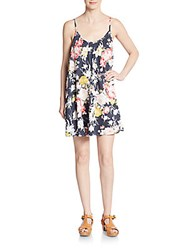 Saks Fifth Avenue Red Floral A Line Dress Multicolor