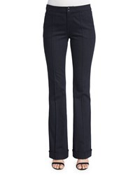 Elie Tahari Bailee Mid Rise Flare Leg Jeans Dark Night Women's Dark Night Wash