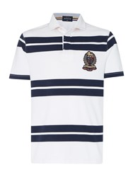 Howick Lincoln Stripe Short Sleeve Rugby Navy