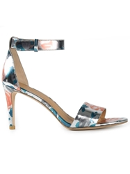 Marc By Marc Jacobs Metallic Rose Print Sandals Grey