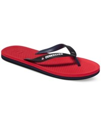 Quiksilver Haleiwa Thong Sandals Red Black