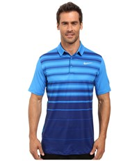 Nike Mobility Fade Stripe Polo Light Photo Blue Light Photo Blue Flat Silver Men's Short Sleeve Pullover