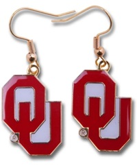 Aminco Oklahoma Sooners Logo Drop Earrings Team Color