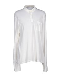 James Perse Standard Topwear Polo Shirts Men White