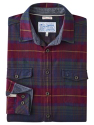 Joules Buchanan Cotton Long Sleeve Shirt Red Tartan