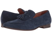 Dune Result Navy Suede Men's Flat Shoes Blue