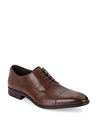 Saks Fifth Avenue Cap Toe Leather Oxfords Brown