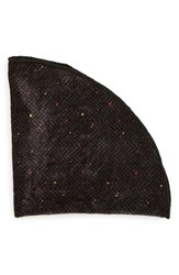 Alexander Olch Men's 'The Oscar' Velvet Pocket Round Black