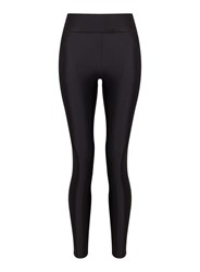Miss Selfridge Blk Hw Shiny Legging Black