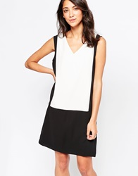 Vero Moda Colourblock Sleeveless Shift Dress Snowwhite