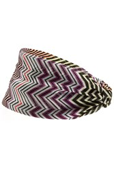 Missoni Mare Chevron Knit Headband Multicolor