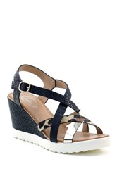 Summer Rio Mixed Media Wedge Sandal Multi