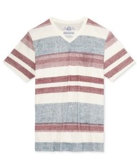 American Rag Men's New Textured Stripe T Shirt Only At Macy's Fennel Beige