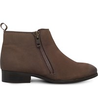 Miss Kg Spitfire Zip Up Leather Boots Taupe