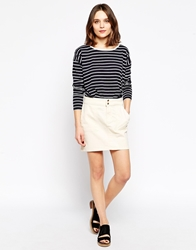 Ganni Mini Skirt White