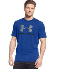 Under Armour Sportstyle Logo T Shirt Royal Midnight Navy Steel