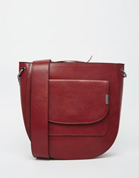 Warehouse Clean Tab Saddle Bag Red