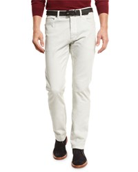 Ermenegildo Zegna Zw Five Pocket Pants Stone Silv Sld