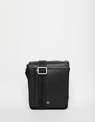Tommy Hilfiger Malcolm Messenger Bag In Leather Black