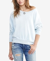 Denim And Supply Ralph Lauren French Terry Sweatshirt Frost Blue