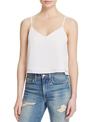 Alice Olivia Alice And Olivia Double Layer Tank White