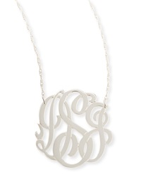 Jennifer Zeuner Jewelry Jennifer Zeuner Silver Medium 3 Letter Monogram Necklace